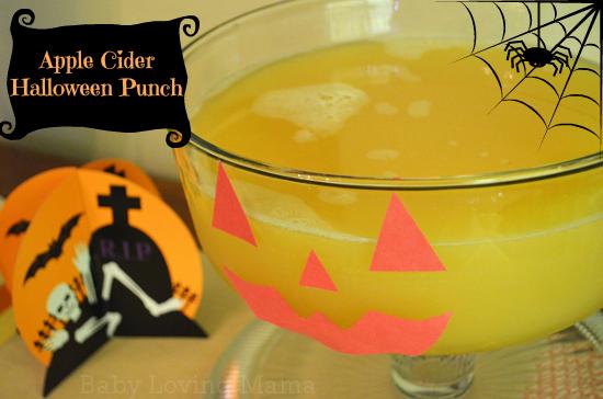 Apple Cider Halloween Punch - Finding Zest