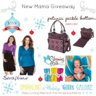 Sparkling Holiday Gifts Galore: New Mama Giveaway with Petunia Pickle Bottom, Seraphine & Blooming Bath CLOSED