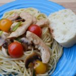 Chicken with Grape Tomatoes & Mushrooms Featuring Swanson Flavor Boost