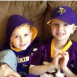 My Boys Show Their Purple Pride for Tide & NFL Show Us Your Colors Sweepstakes