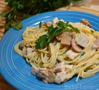 Turkey Tetrazzini Toss : Easy Meal for Leftovers {Recipe}