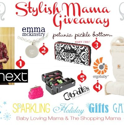 Sparkling Holiday Gifts Galore: Stylish Mama Giveaway with Ergo Baby, Next, PPB & more
