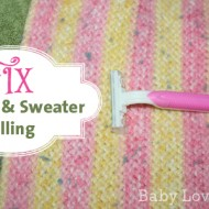 Save Your Sweaters and Blankets: Shave Those Pills Away {Tutorial}