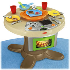 Fisher Price Servin' Surprises Cook 'n Serve Kitchen and Table {Review}