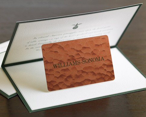 Williams Sonoma Gift Card - Finding Zest
