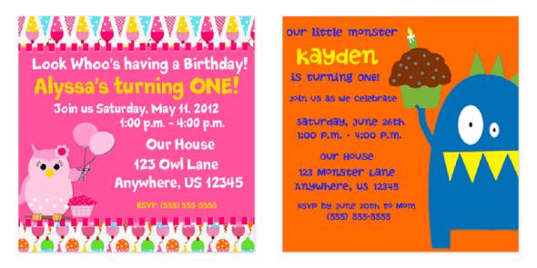 Cafe Press Personalized Birthday Invitations