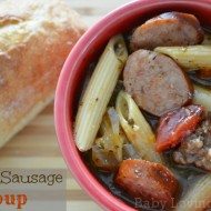 Hearty Sausage Soup {Recipe}
