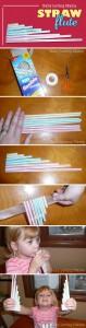Homemade Straw Flute