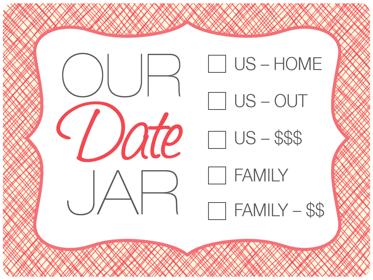 Date Jar With Free Printable Inspired By Pinterest Craft Tutorial Finding Zest