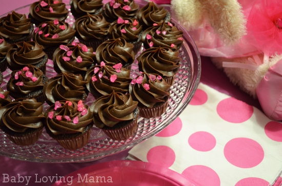 Ballerina Birthday Party Cupcakes