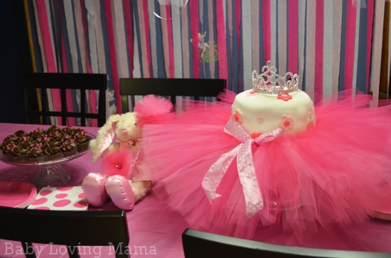 Ballerina Tutu Birthday Cake Table
