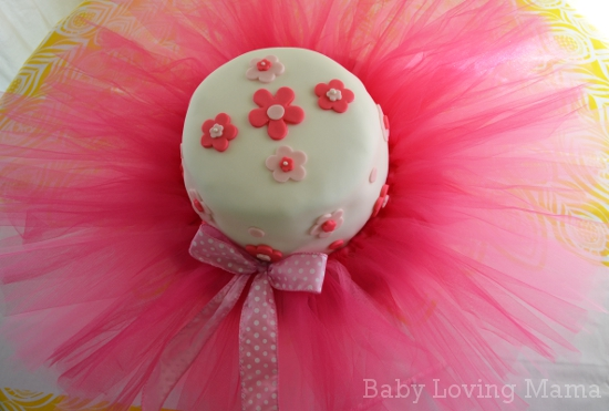 Ballerina Tutu Flower Birthday Cake 2