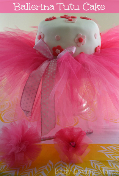 Ballerina Tutu Flower Birthday Cake