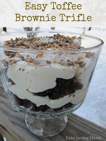 Easy Toffee Brownie Trifle