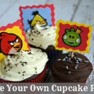 Make Your Own Angry Bird Cupcake Picks {Craft Tutorial}