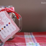 Date Jar with Free Printable {Inspired By Pinterest Craft Tutorial}