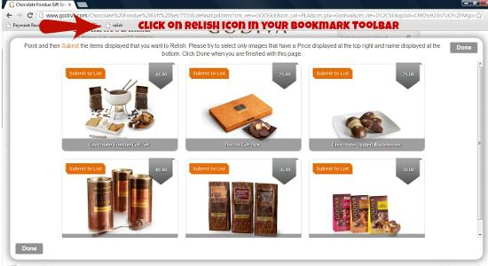 Sweet Relish Bookmark Tool