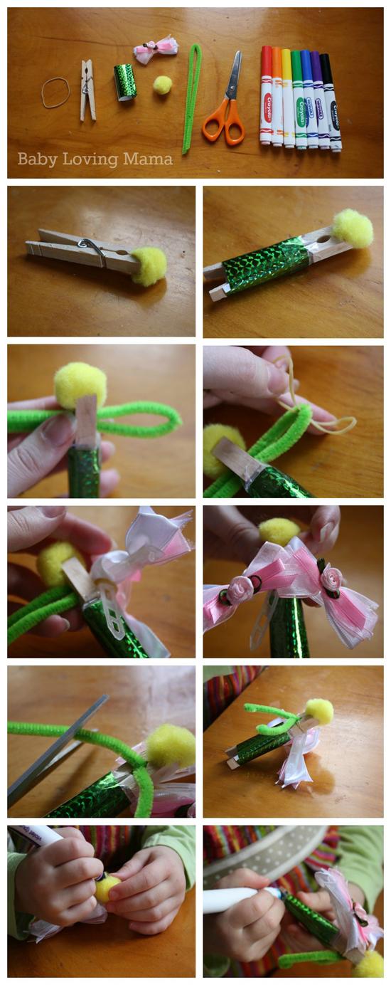Tinkerbell Peter Pan And Hook Craft Tutorial Finding Zest
