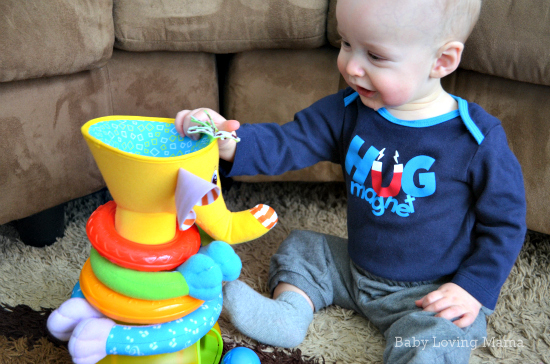 Toy Fun With Musical Stack Amp Ball Game Elephant Amp Follow