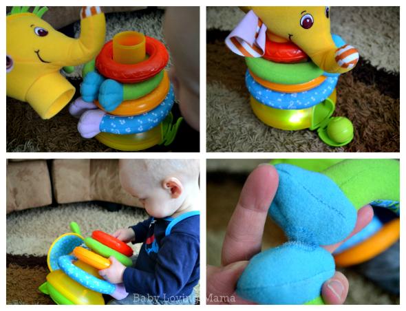 Tiny Love Elephant Toy Collage 1