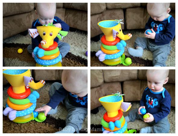 Tiny Love Elephant Toy Collage