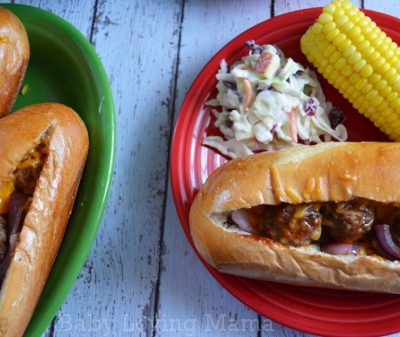 Easy BBQ Meatball Subs with Kraft Fresh Take #KraftFreshTake