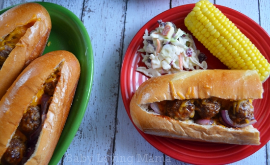Easy Bbq Meatball Subs With Kraft Fresh Take Kraftfreshtake