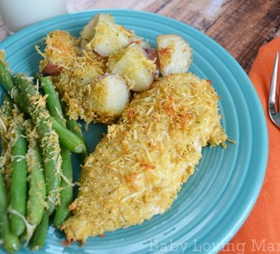 Italian Parmesan Chicken Dinner with Kraft Fresh Take  #KraftFreshTake
