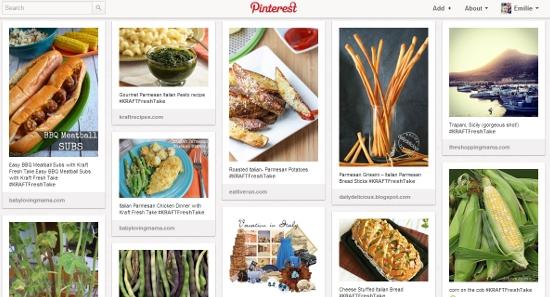 Kraft Fresh Take Italian Parmesan Pinterest Inspiration Board