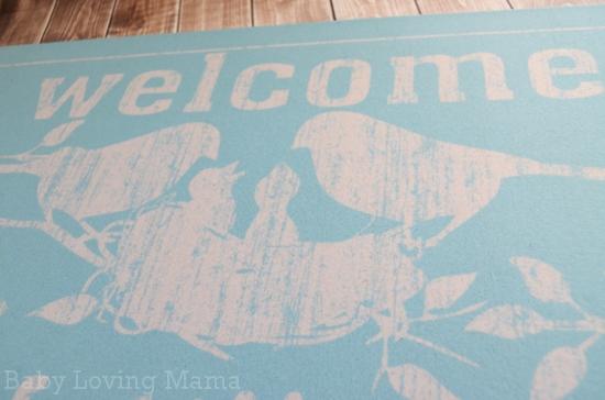 Personal Creations Family Nest Birds Doormat 1