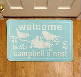 Personal Creations Family Nest Birds Doormat