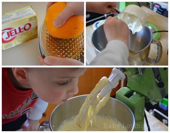 Pineapple Orange Spring Cake Prep
