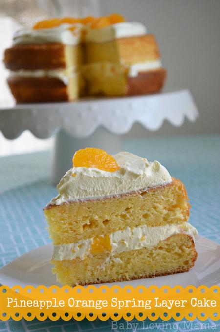 Pineapple Orange Spring Layer Cake