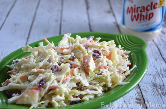 Creamy Apple Cranberry Coleslaw Miracle Whip 2