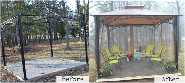 Home Depot Envirotile Raised Gazebo DIY Project Before and After Revealed