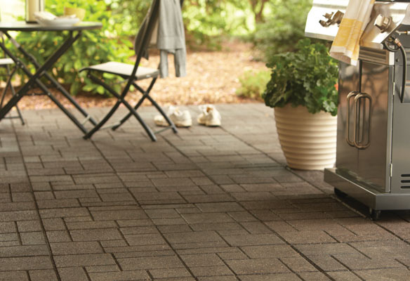 Home Depot Envirotiles patio