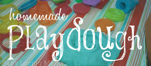 Homemade Playdough Recipe Small and Large Batch | www.babylovingmama.com