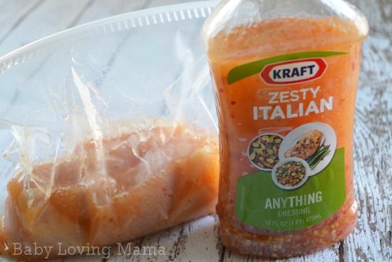 Kraft Zesty Italian Dressing Chicken Marinade 1