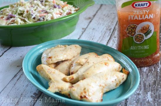 Kraft Zesty Italian Dressing Chicken Marinade 4