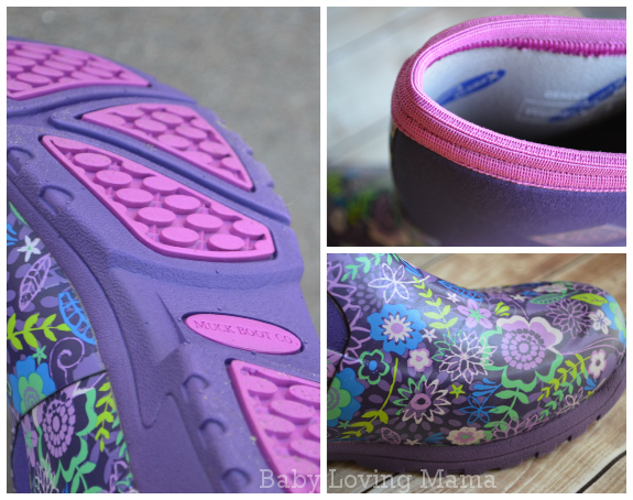 Muck Boot Company Breezy Mid Cool Purple Details