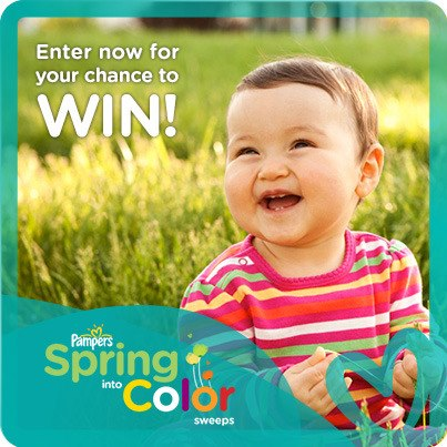 Pampers Spring Into Color Sweeps