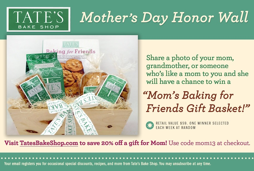 Tates Bake Shop Honor Mom Facebook