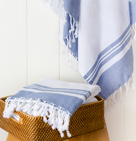 Turkish Towel Company Peshtamel Blue