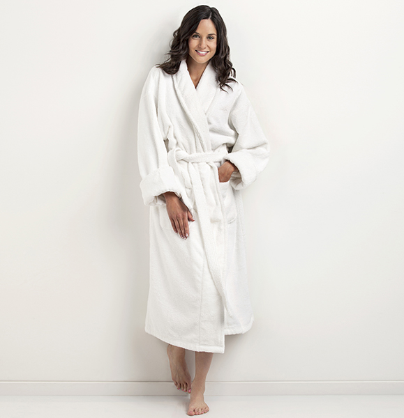 Turkish Towel Company Shawl Robe