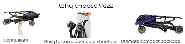 Yezz Quinny Lightweight Stroller Features