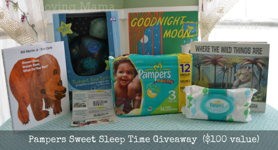 pampers sweet sleep time giveaway