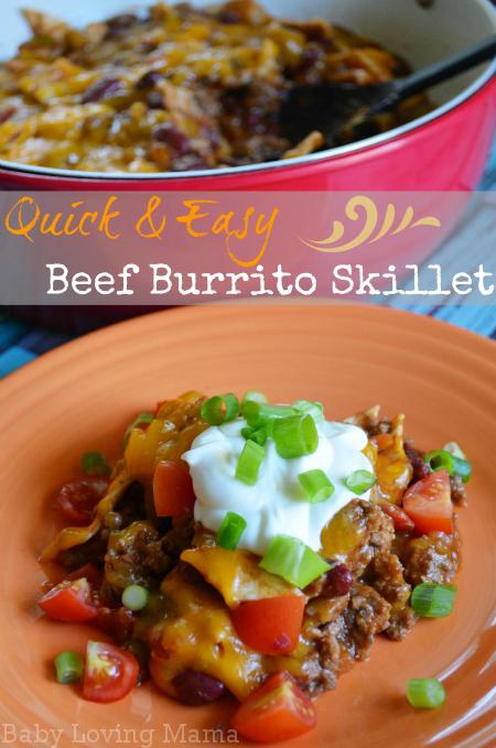 Beef Burrito Skillet Quick Kraft