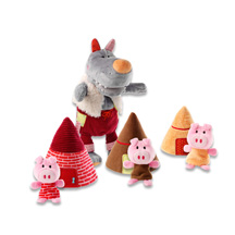 HABA_Lilliputiens_86155-Marionette loup et 3 petits cochons_WEB