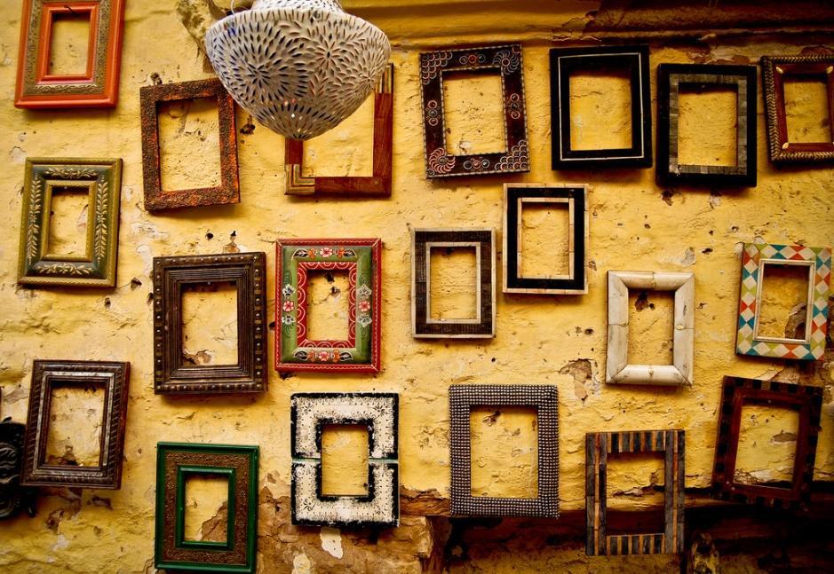 family photo frames empty
