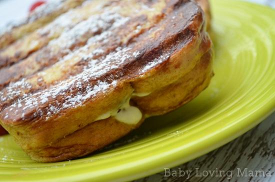 Calphalon Unison Grill Pan Press Stuffed French Toast Close Up